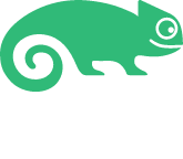 SUSE logo on black background